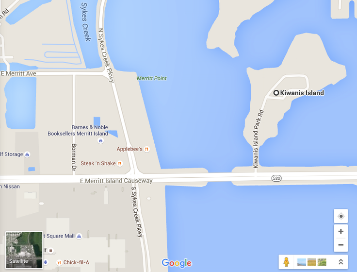 Kiwanis Island Map